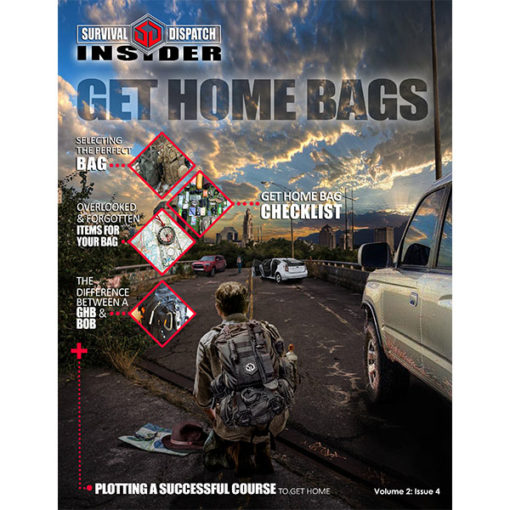 Bug out bag survival guide with man navigating abandon highway