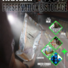food storage room with MRE's and water for survival guide cover image