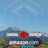 survival dispatch amazon store cover with mountain range in background
