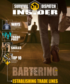 man carrying ammo case and coffee can for bartering supplies survival guide cover
