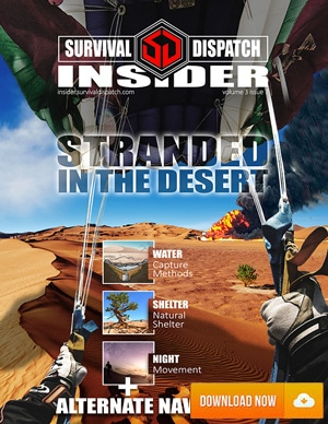 parachuting into a desert where a plane crashed and surviving it all