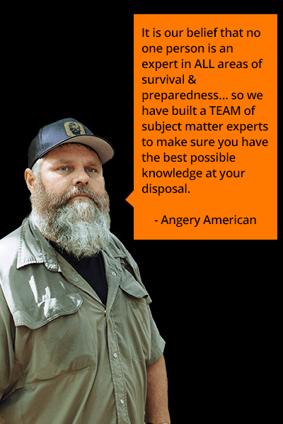 Angery American quote for the survival dispatch store