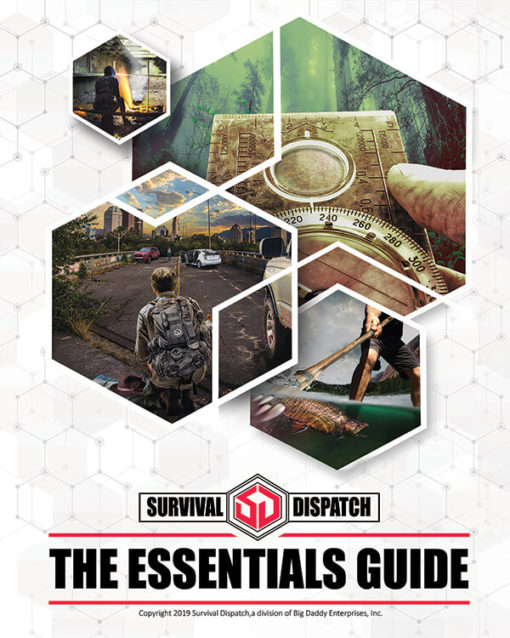 the essentials survival guide cover with spear fishing and navigation