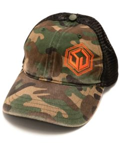SD Snapback Hat Camo and Black