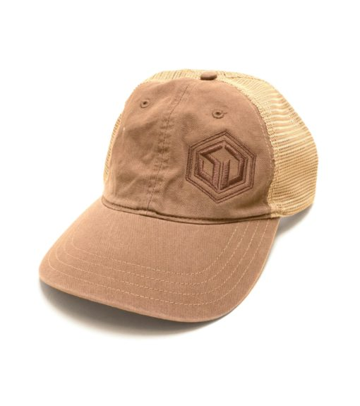 SD Snapback Mesh Hat - Driftwood and Kahaki
